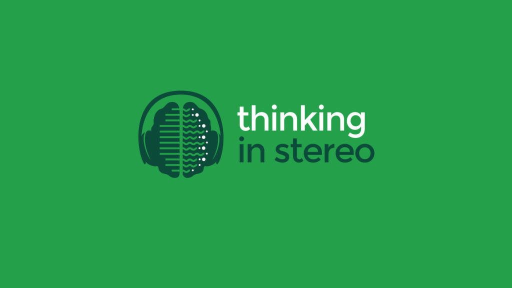Needledrop brain and headphones logo with tagline