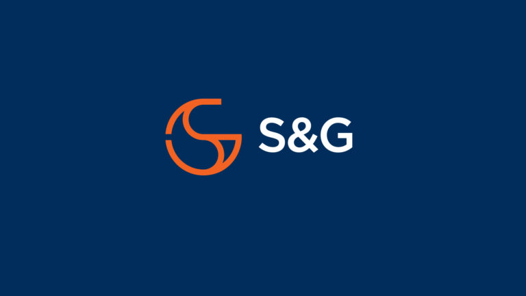 S&G Commodities logo on blue background