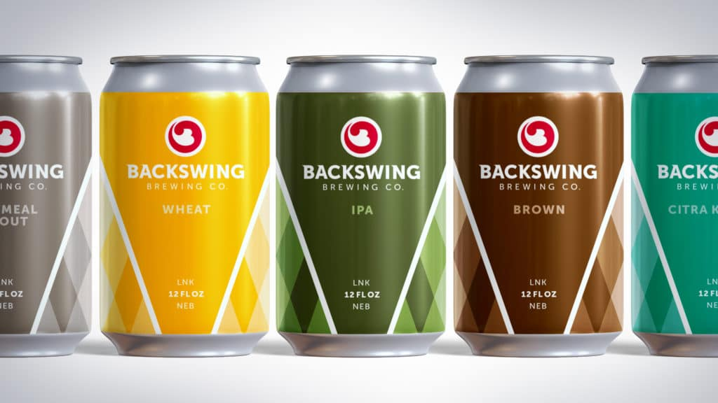 Backswing Brewing can designs