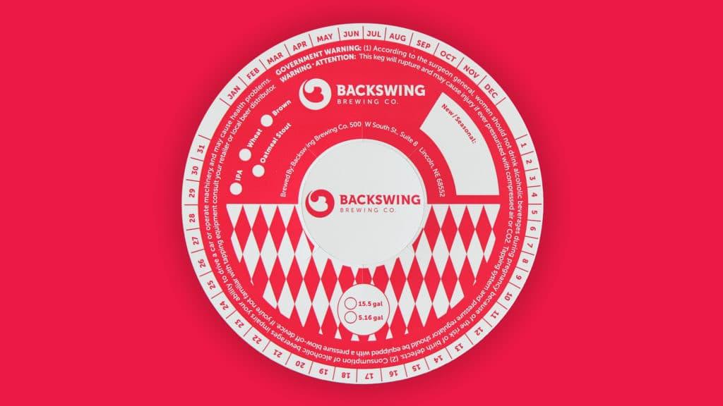Backswing branded keg ring