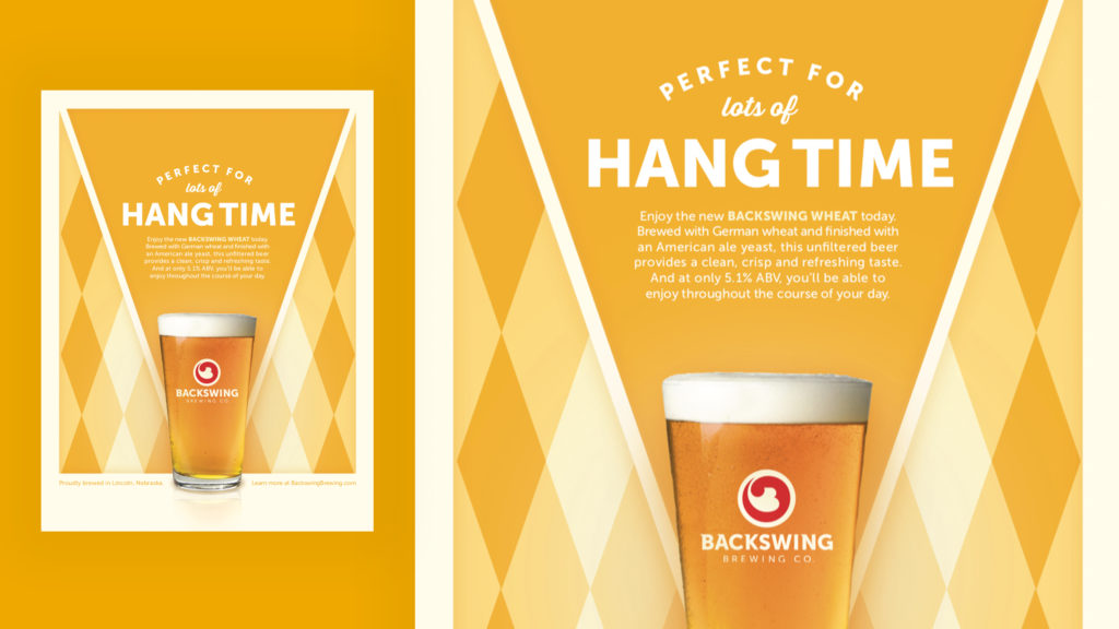 Backswing Brewing Wheat poster design