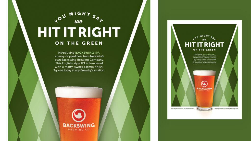 Backswing Brewing IPA poster design