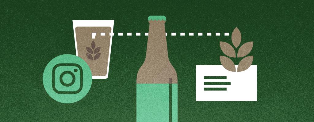 brewery branding illustration