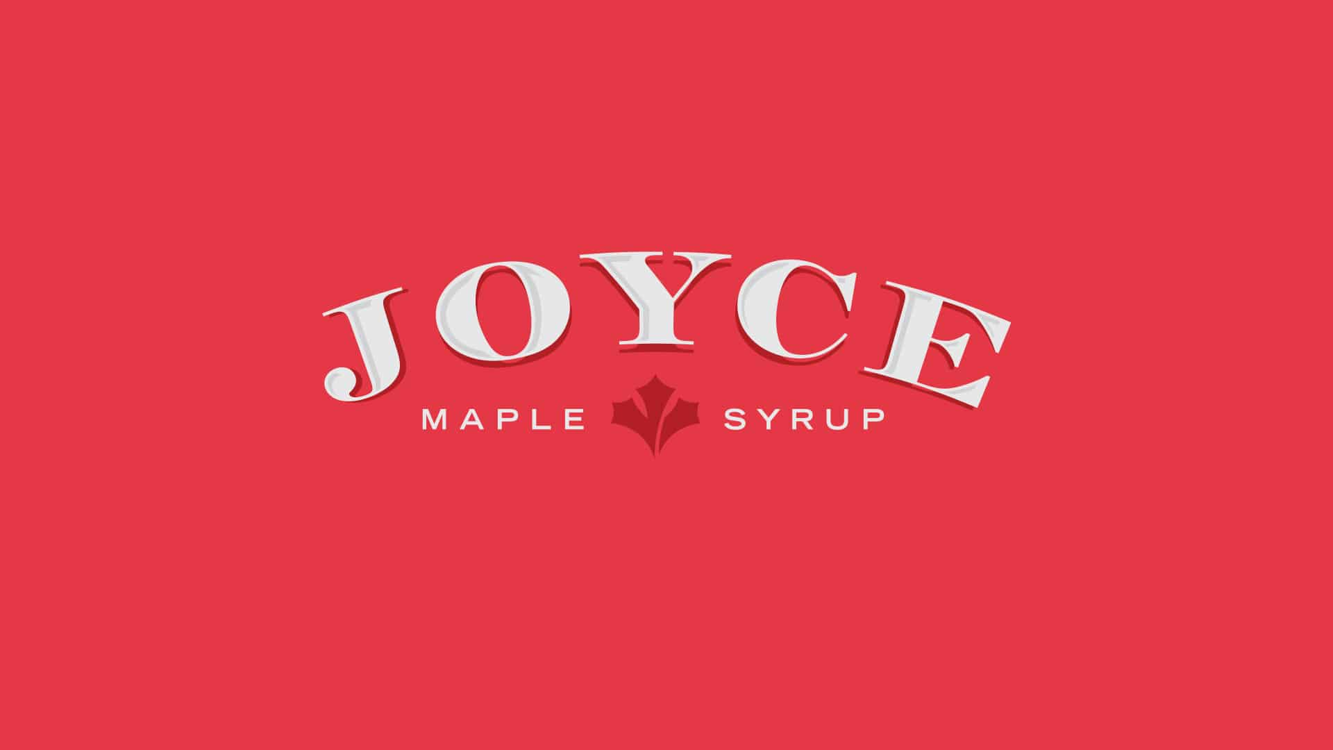 joyce maple syrup branding logo