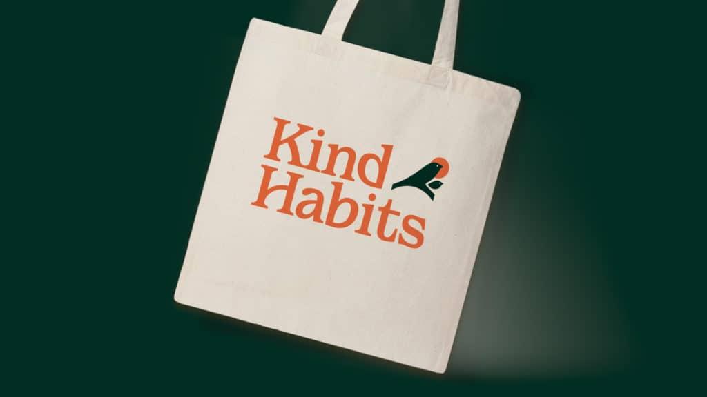 Image of a Kind Habits branded tote bag.