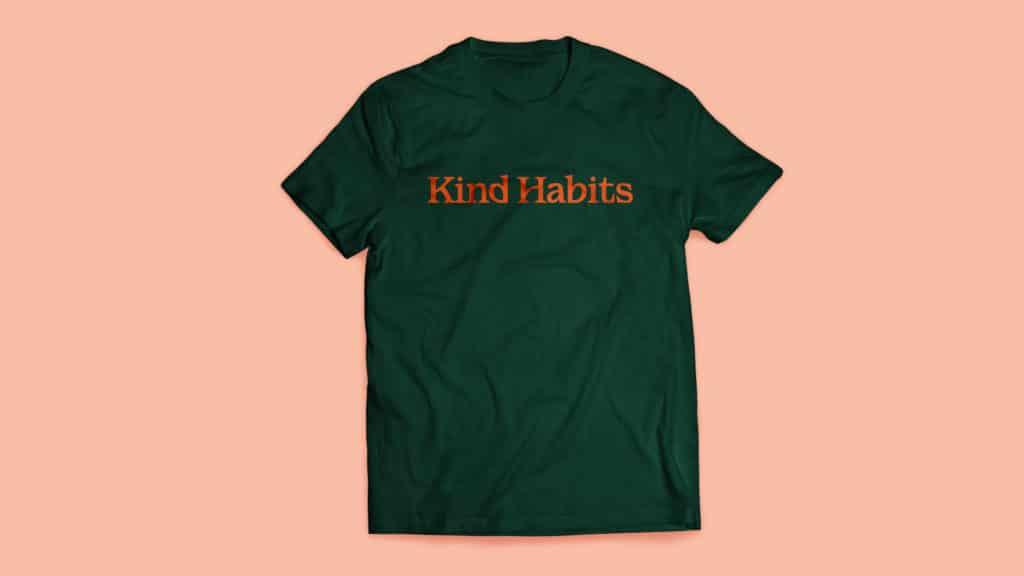 Image of Kind Habits branded t-shirt.