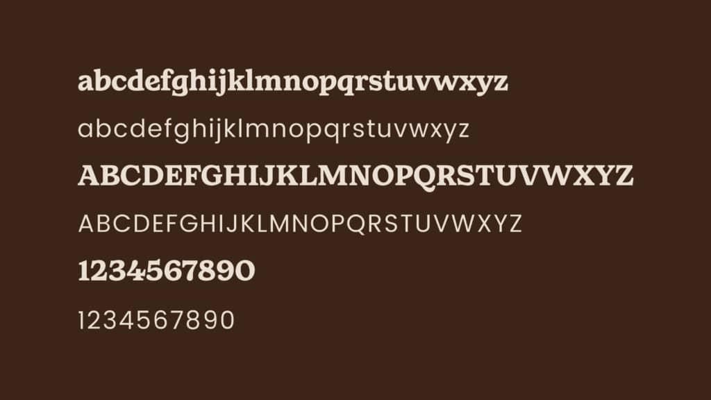 Image of Kind Habit brand fonts.