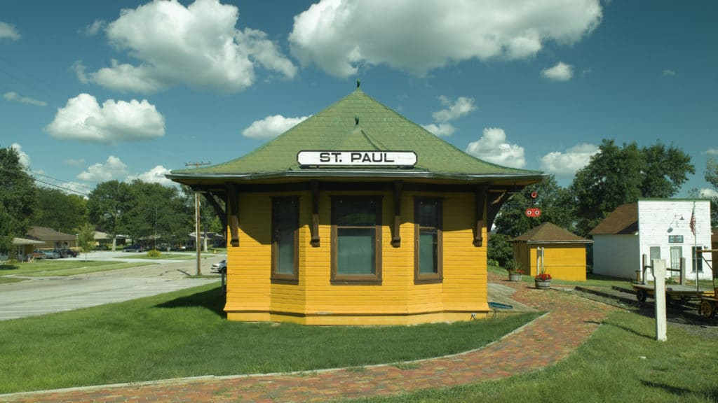 Image of St. Paul train depot.