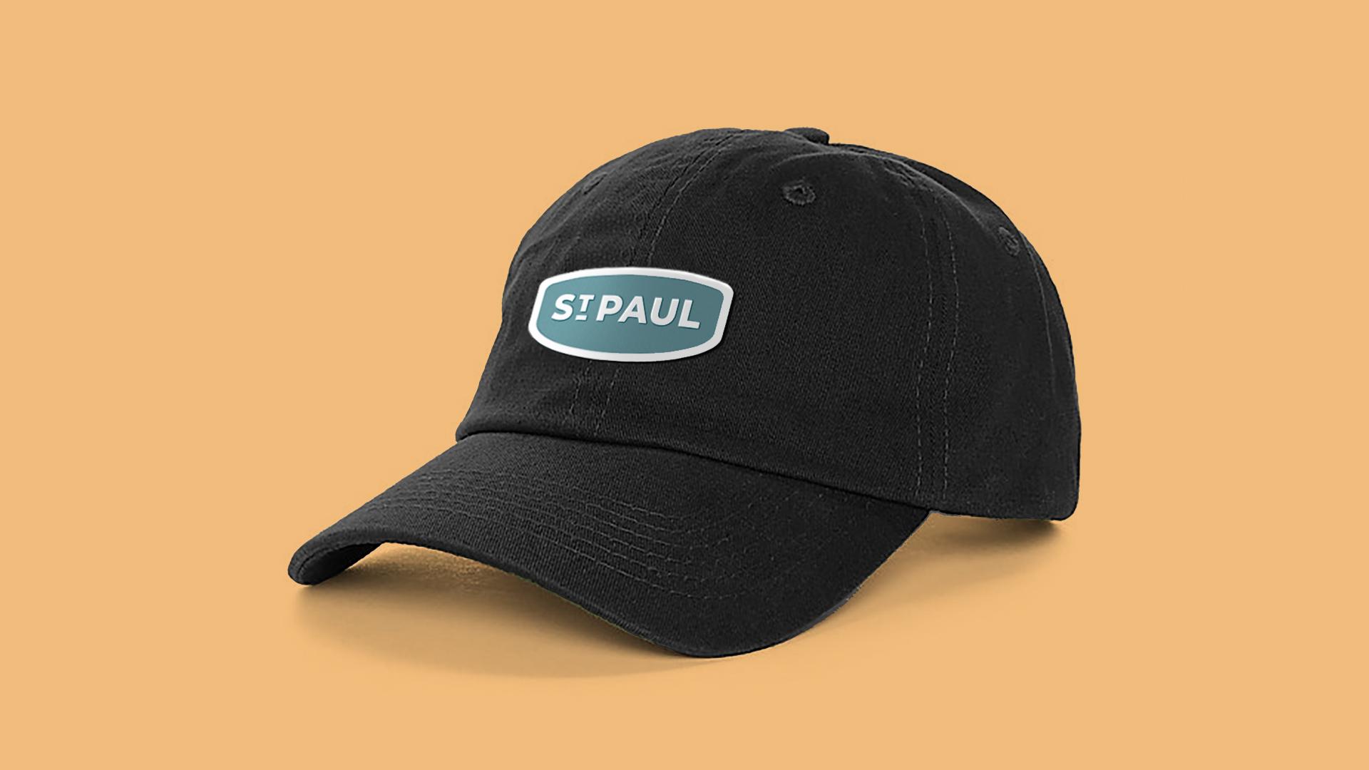 Image of St. Paul, Nebraska branded hat.
