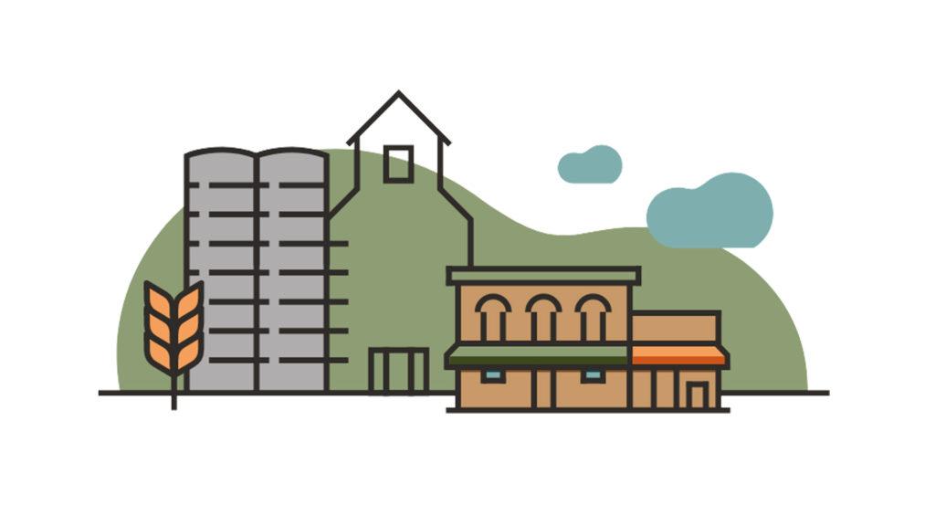 City of St. Paul, Nebraska brand illustration.