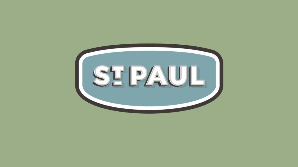 Image of St. Paul, Nebraska city logo design.