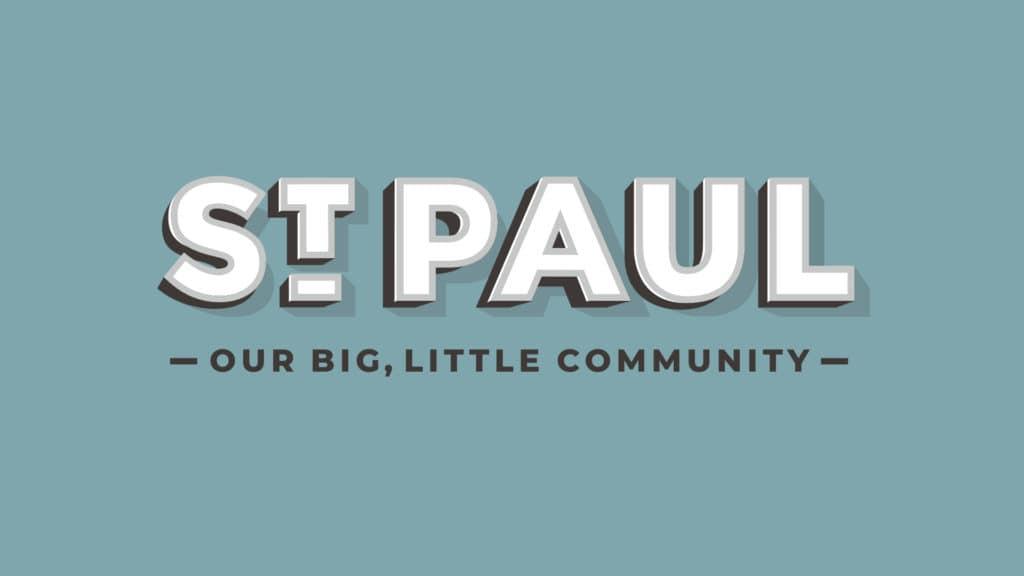 Image of St. Paul, Nebraska logo design.