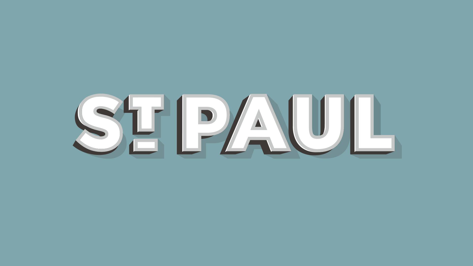 st paul, nebraska logotype