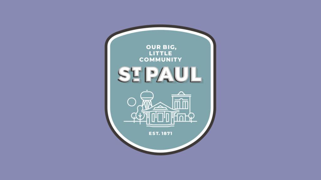 Image of St. Paul, Nebraska badge logo.
