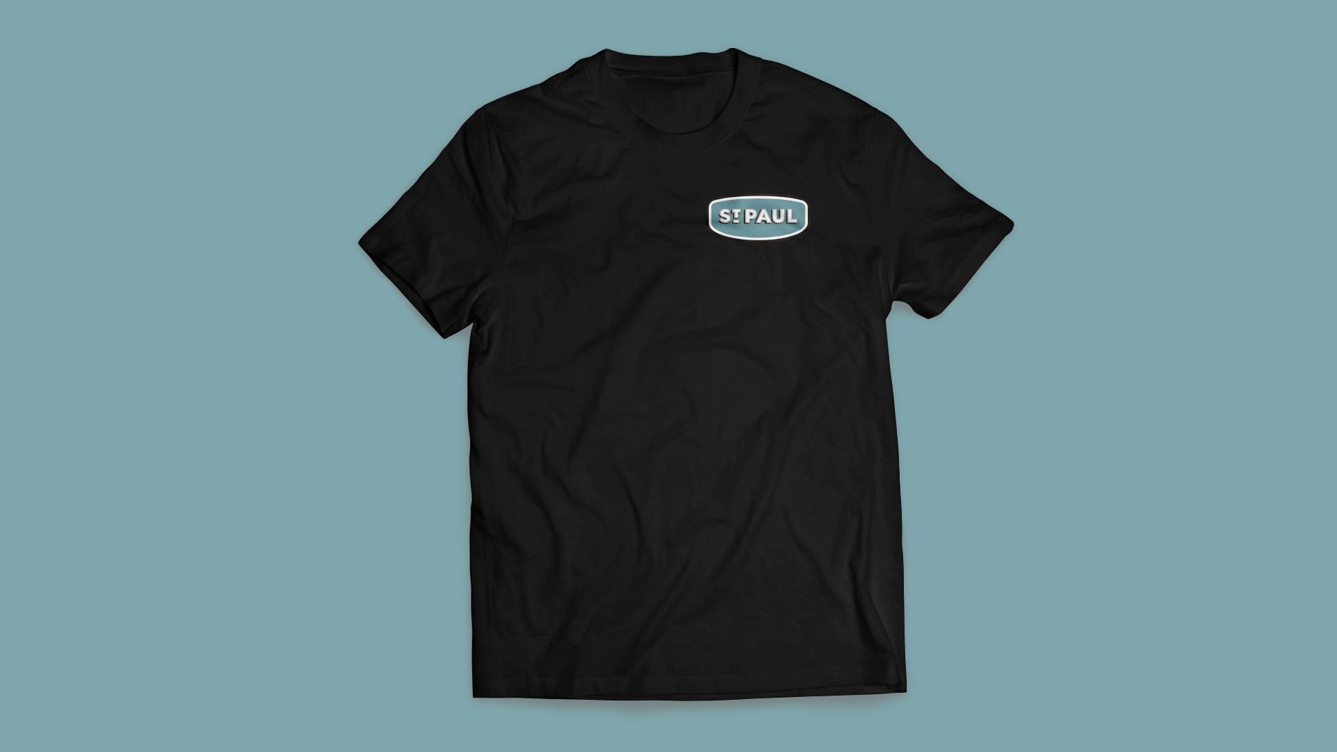 Image of St. Paul, Nebraska branded t-shirt.