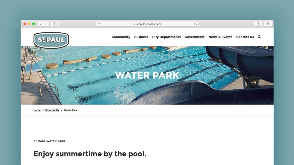 Image of St. Paul, Nebraska website design.