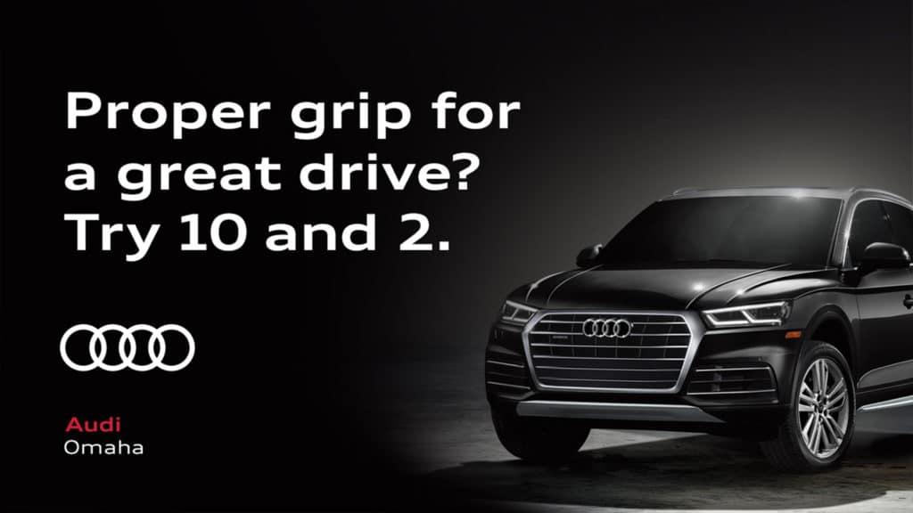 Audi advertising at Topgolf Omaha.