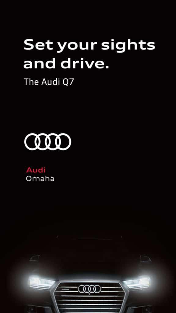 Audi of Omaha ad at Topgolf Omaha.
